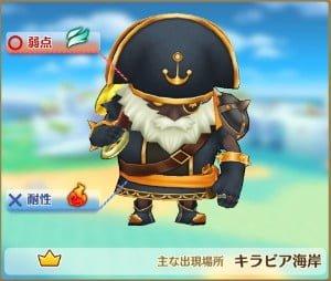 大海賊ブラックアンカー属性・弱点【ファンタジーライフオンライン/FLO】