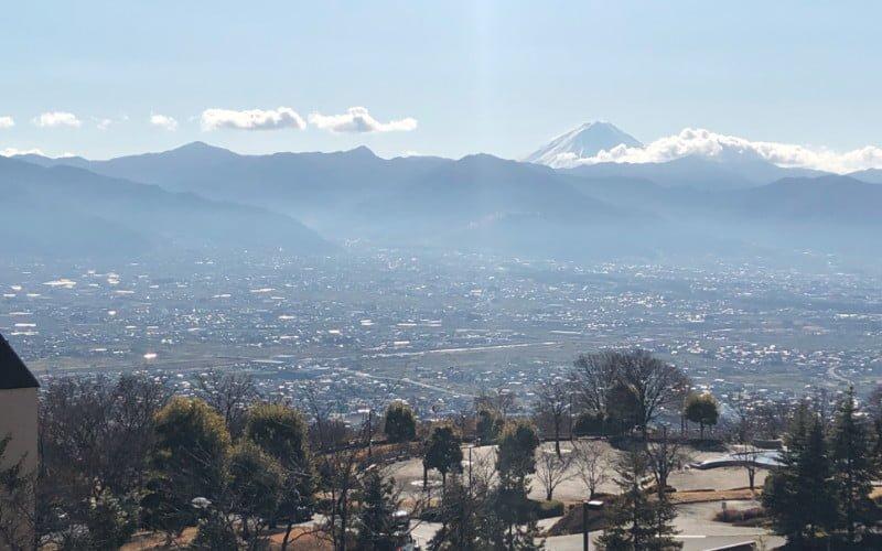 富士山が見える足湯